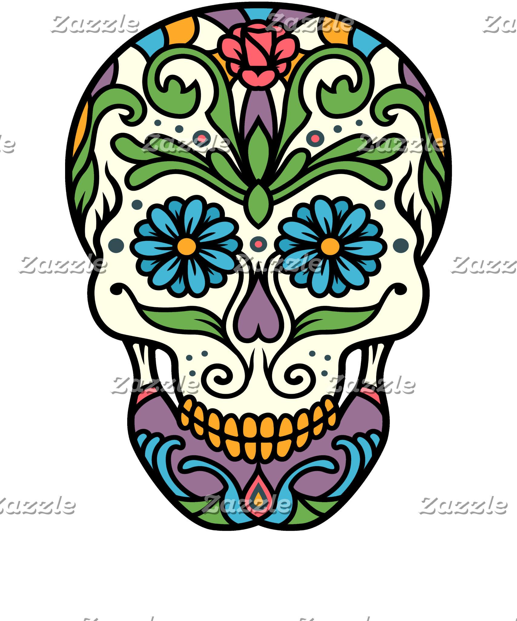 Colorful Sugar Skull