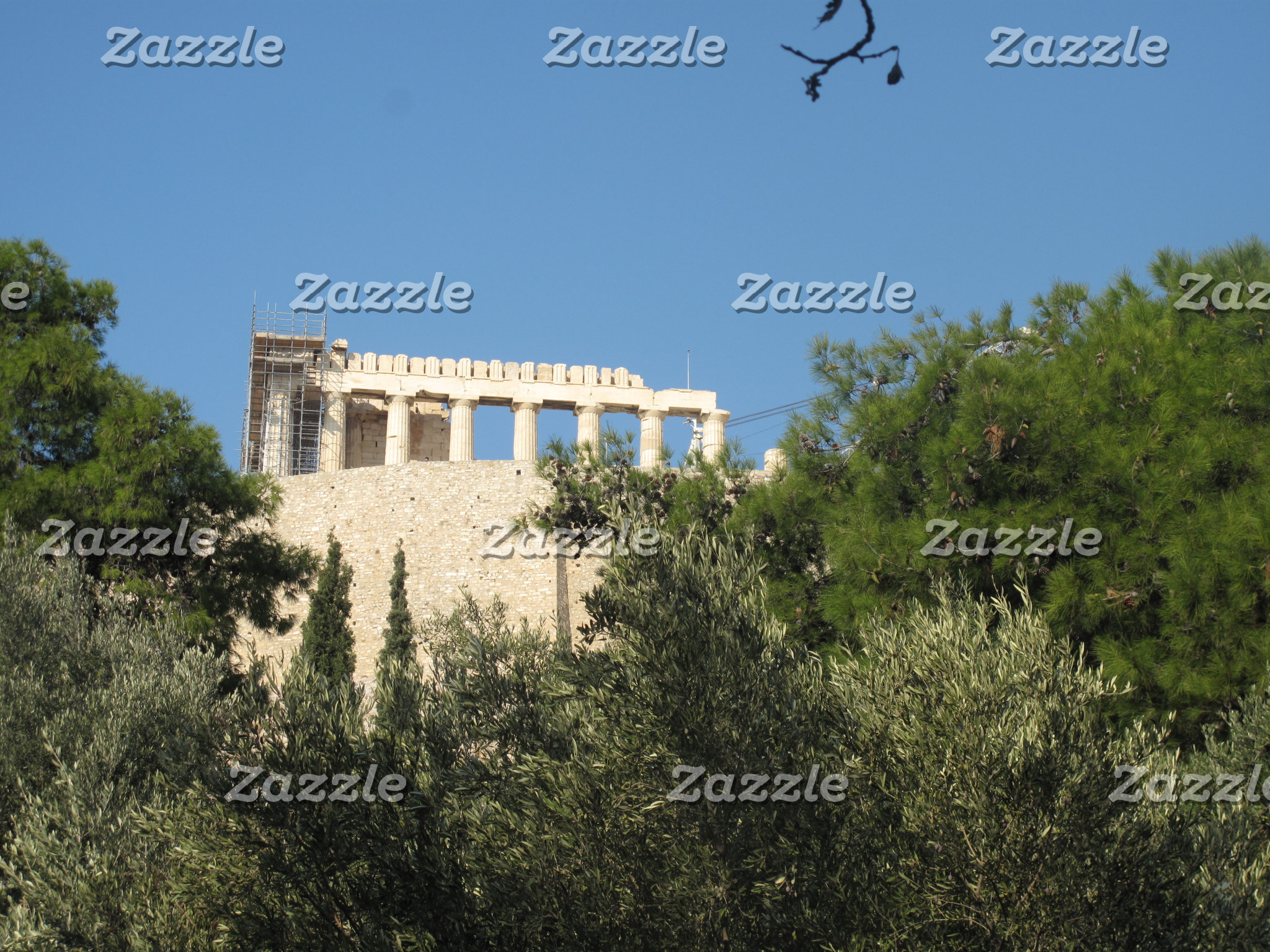 Greek Parthenon from afar