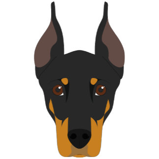 Doberman Pincher Dog Portrait