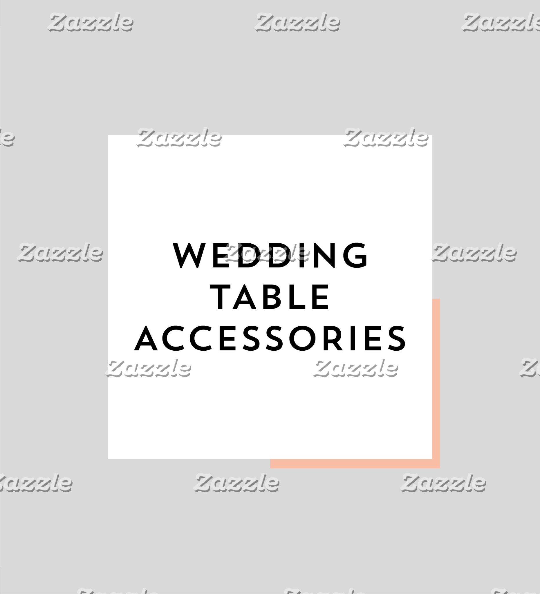 Wedding Table Accessories
