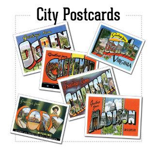 US City Postcards