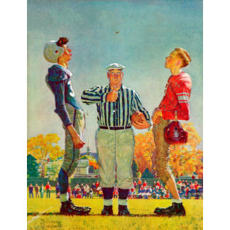Coin Toss by Norman Rockwell