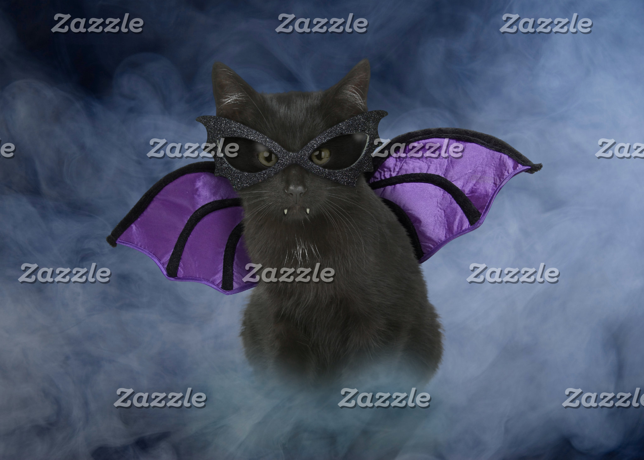 Vampire Cat Halloween Cards & Gifts