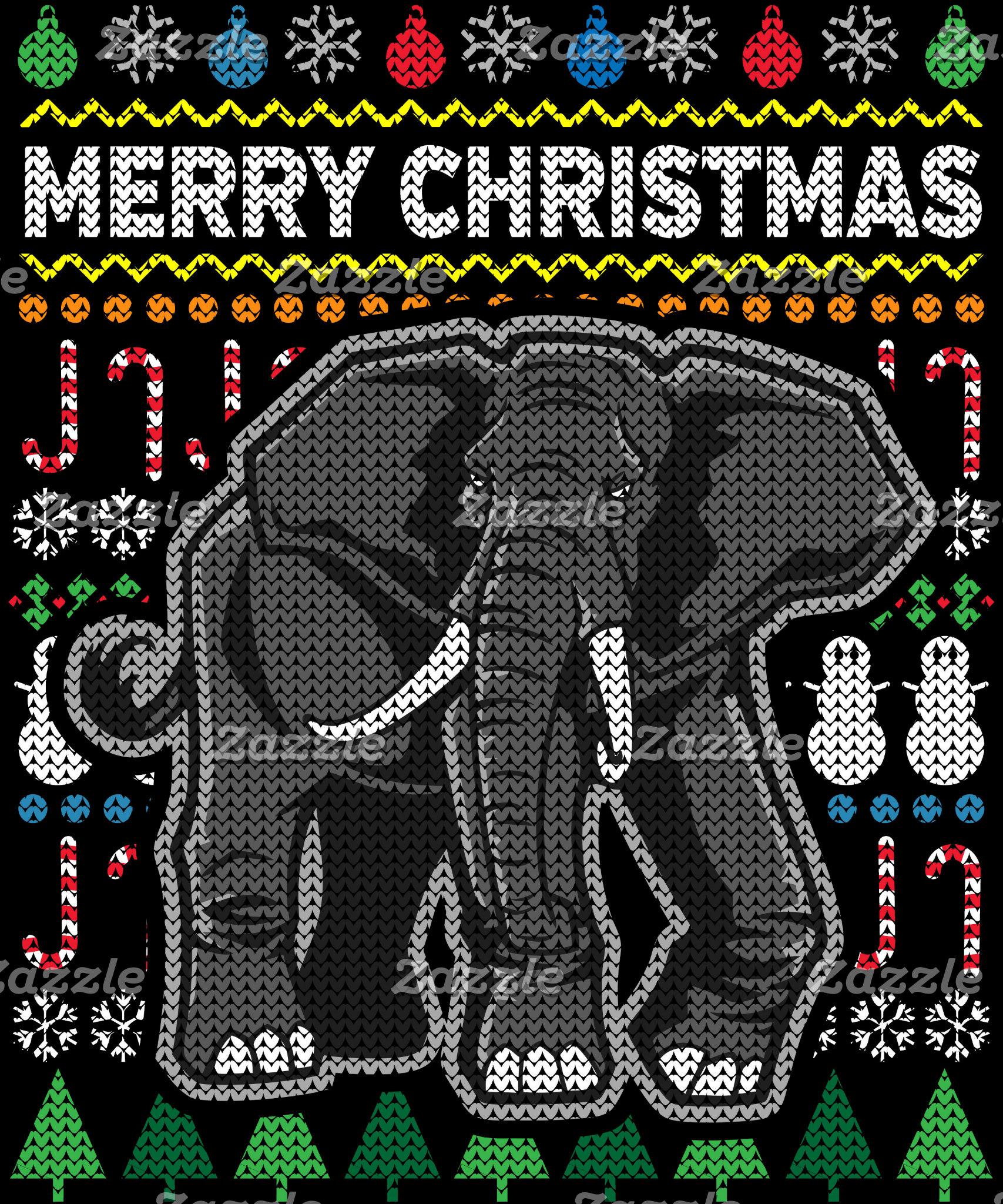 Elephant Ugly Christmas Sweater