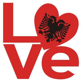 Albanian Red LOVE Flag