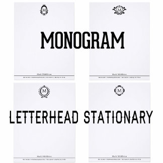 Monogram Letterhead Stationery