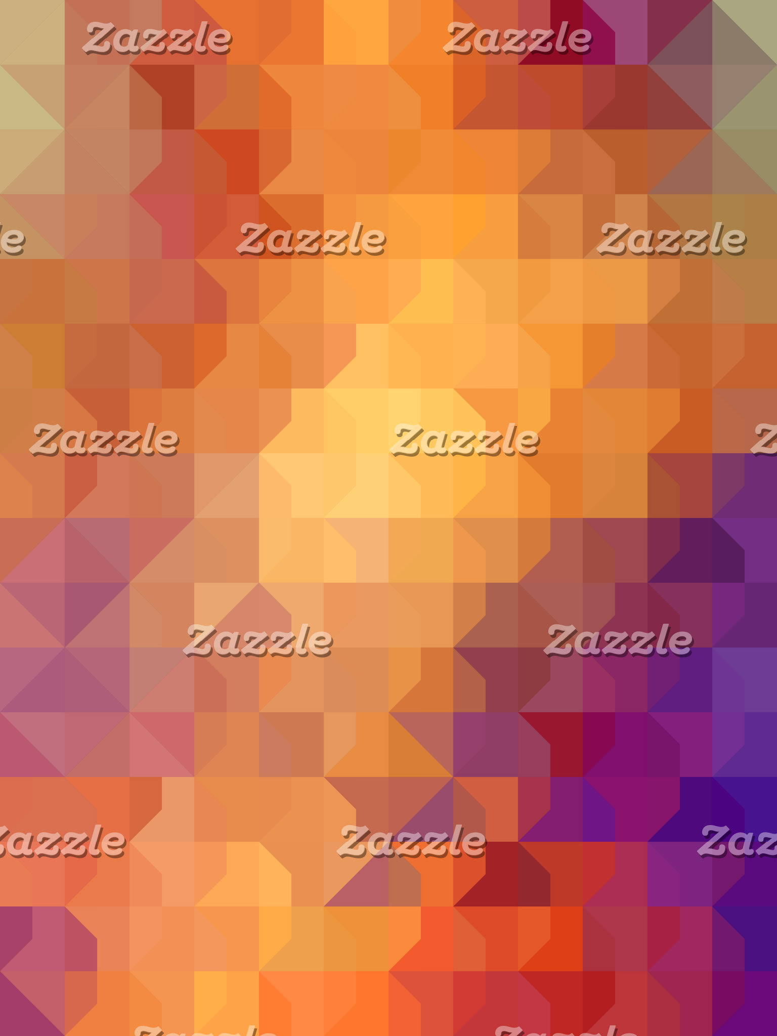 Geometric Patterns | Orange Squares and Triangles
