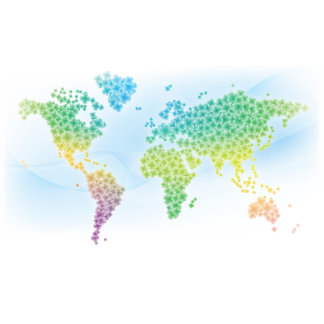 Colorful World Map