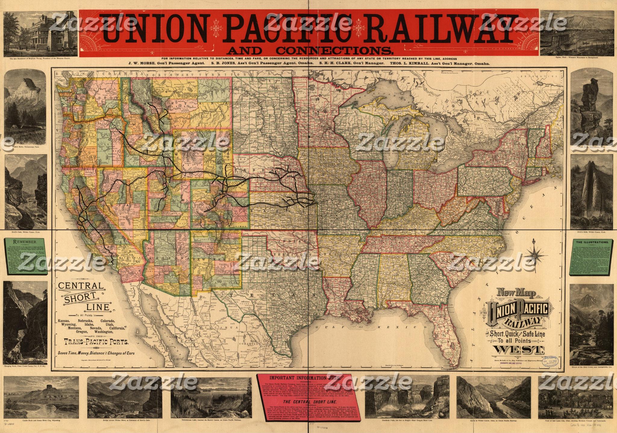 RAILROAD  & STATE MAPS