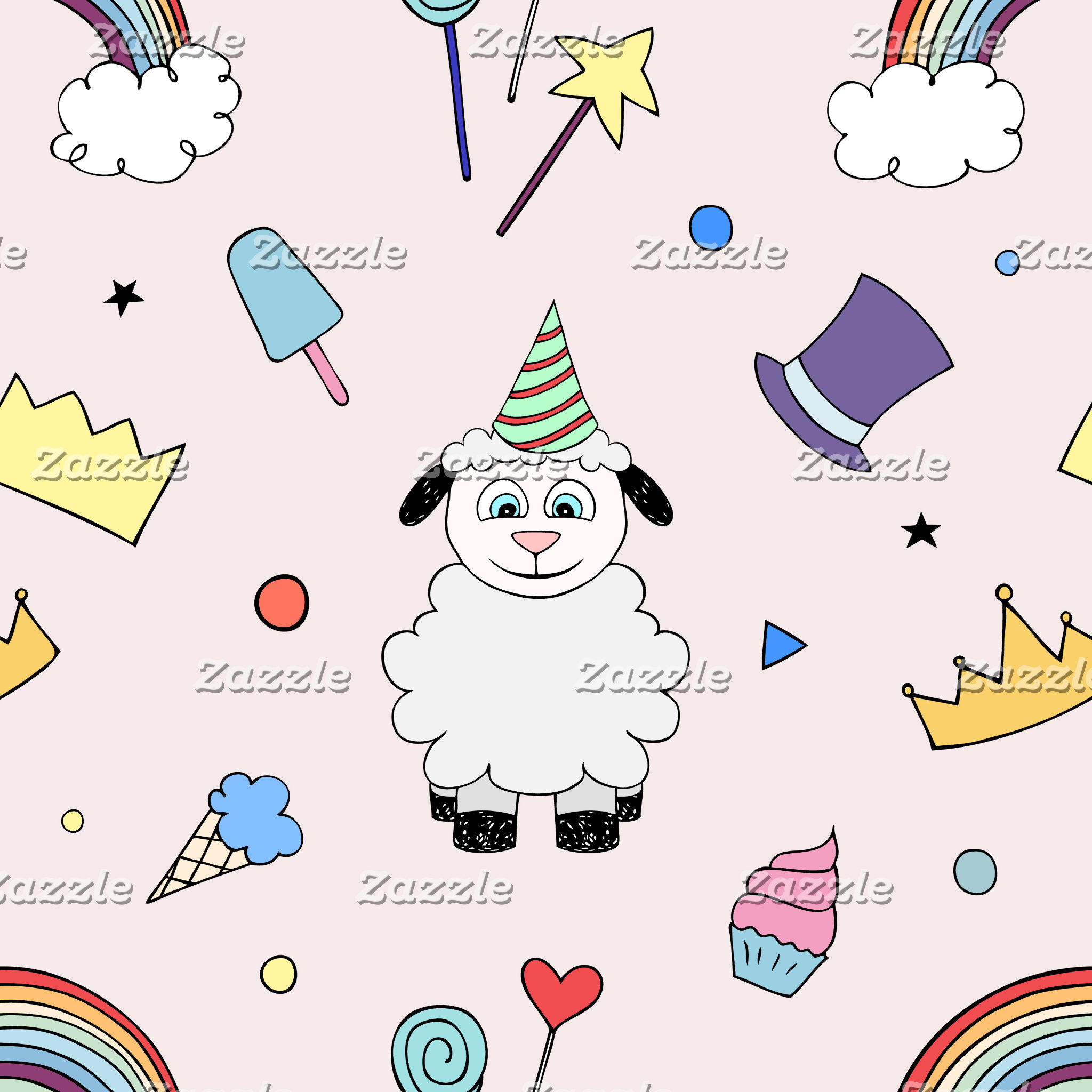 Animals party pattern