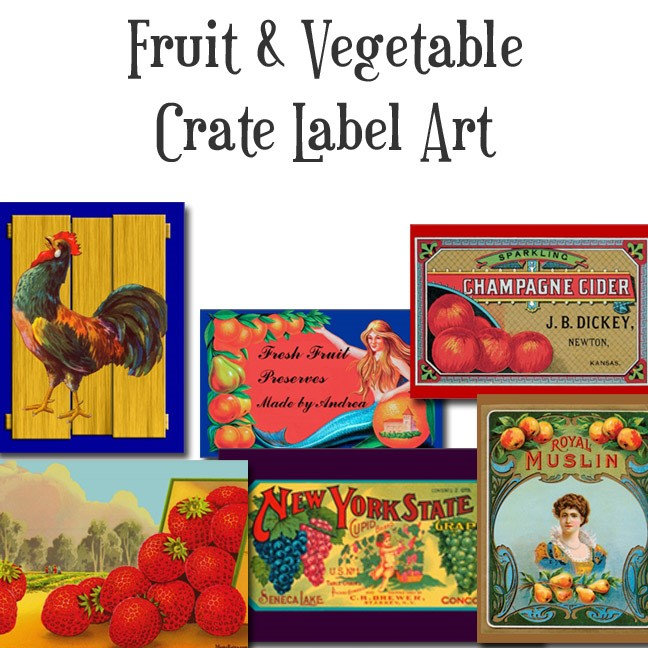 Vintage Kitchen Crate Art Designs