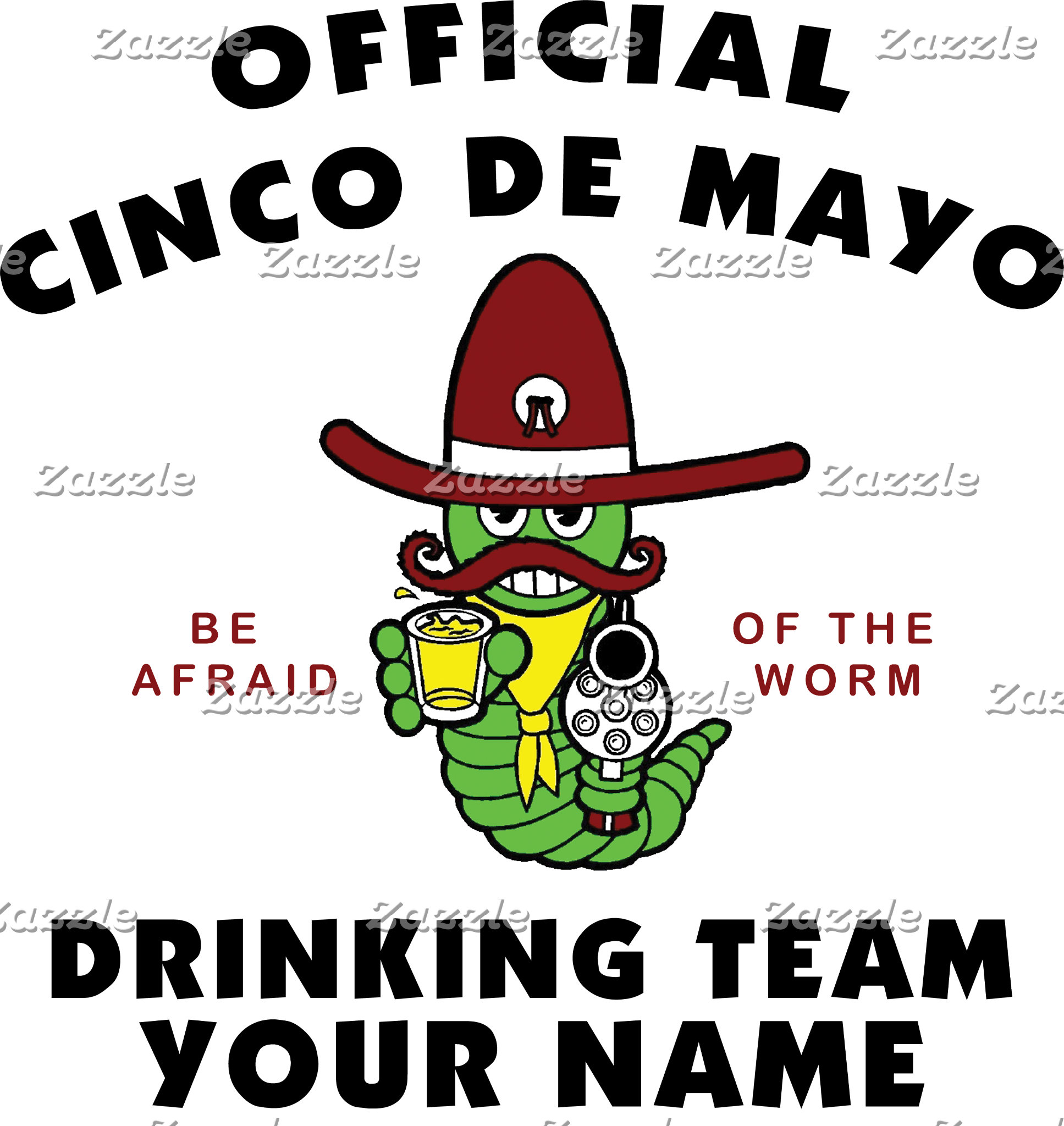 Cinco de Mayo Drinking Team Personalized