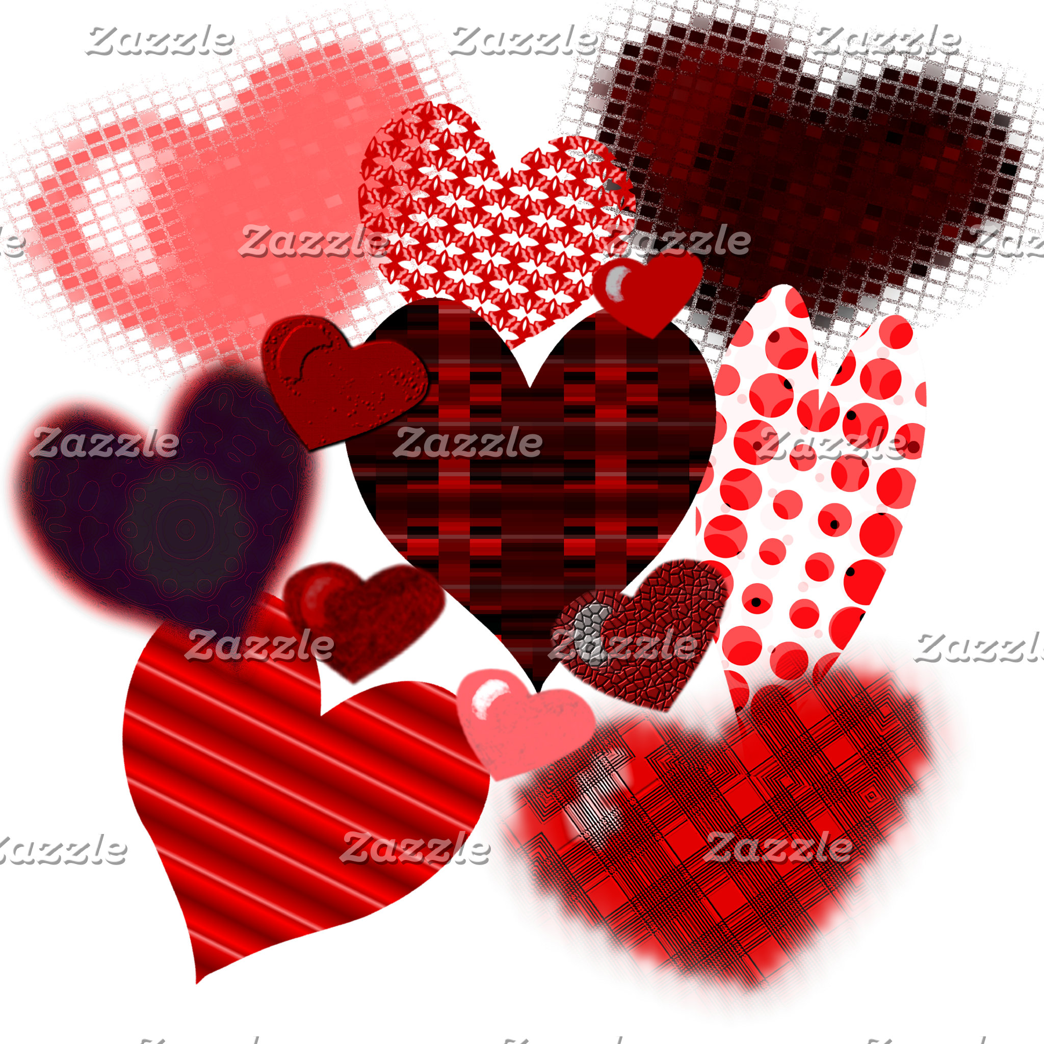 Textured Heart Collage