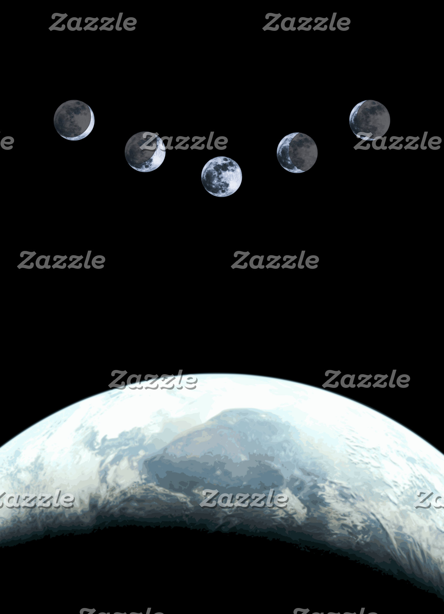 Moonphases 5 Earth in Space