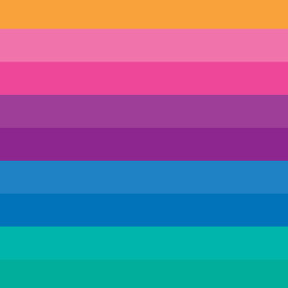 Retro Bright Multicolor Ombre Stripes Pattern