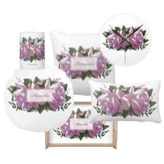 Pretty Pink Purple Rose Flowers & Floral Butterfly