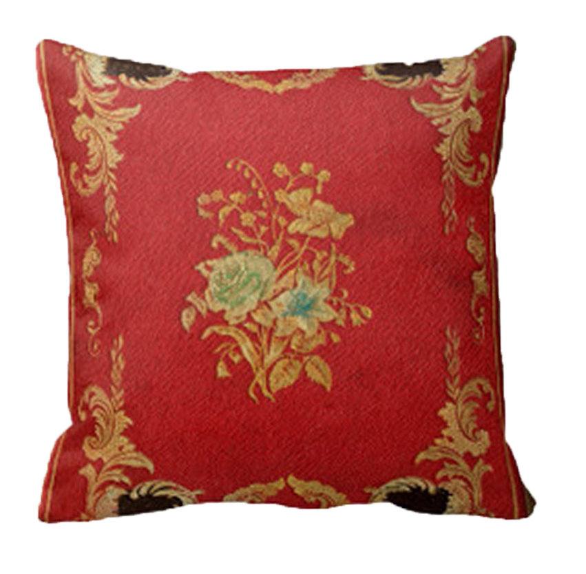 Red & Black Floral Leather Home Decor