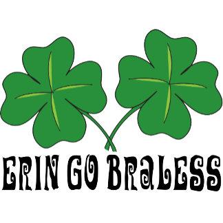 Erin Go Braless T-Shirt Shamrock Go Bra Less