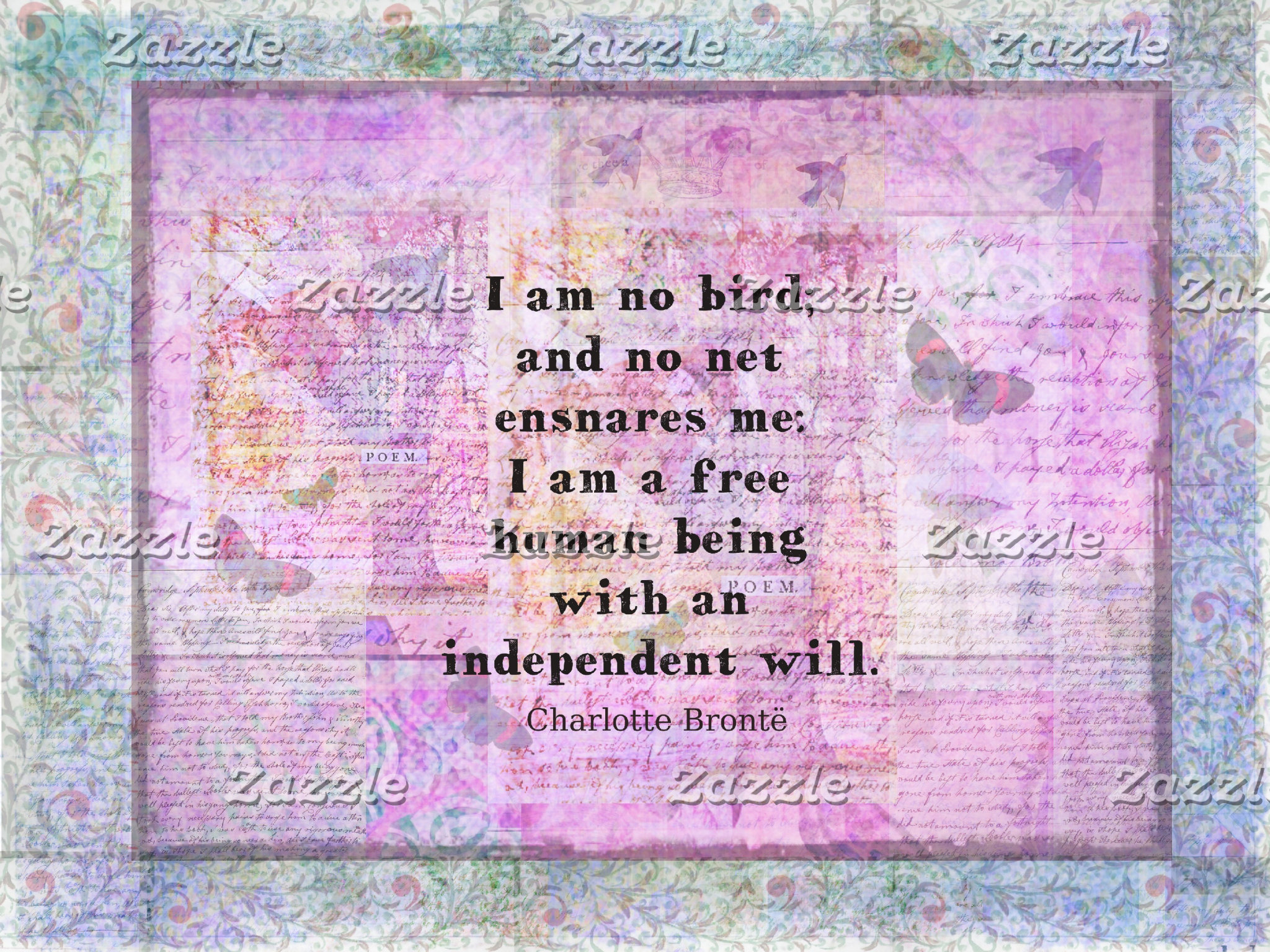 I am no bird; and no net ensnares me: I am a free