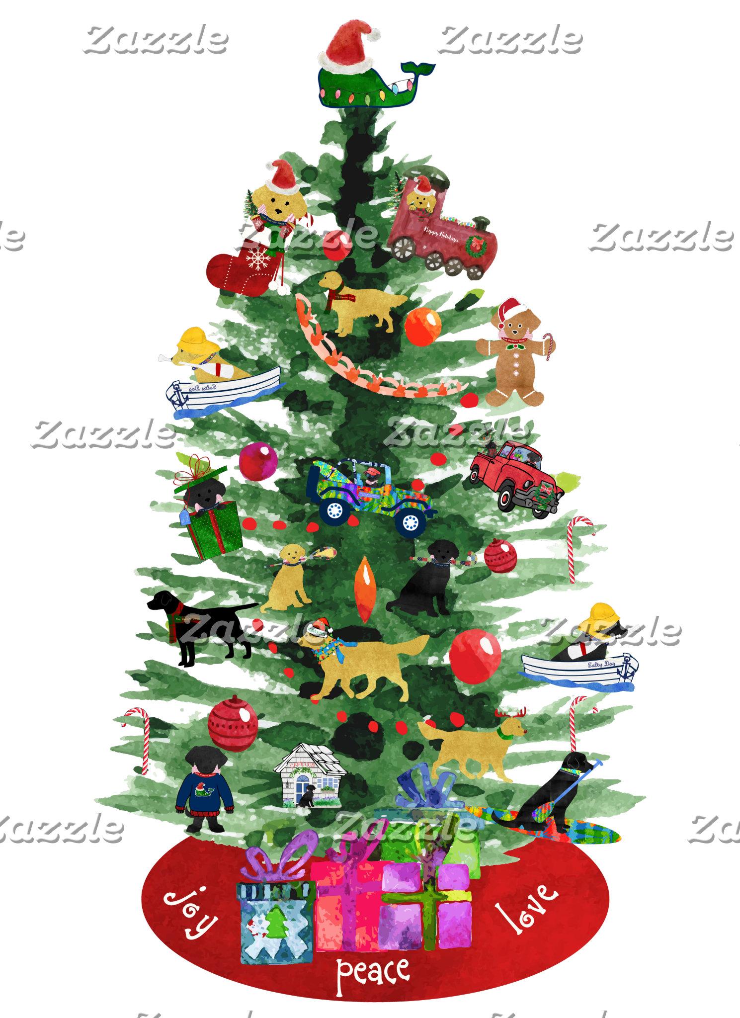 Preppy Dog Christmas Tree