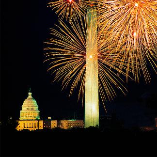 Fourth of July, Firework Display, Skyline