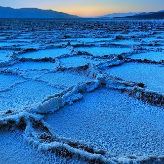 Badwater dusk, Death Valley, California