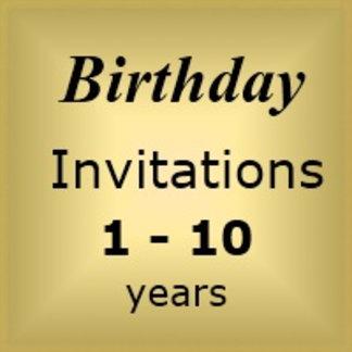 Invites Birthday : Age 1-10