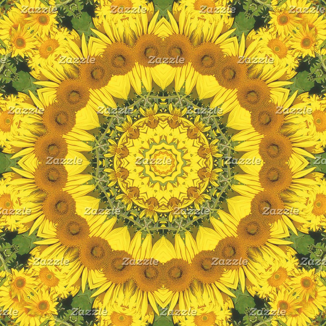 _ Sunflowers, Nature-Mandalas