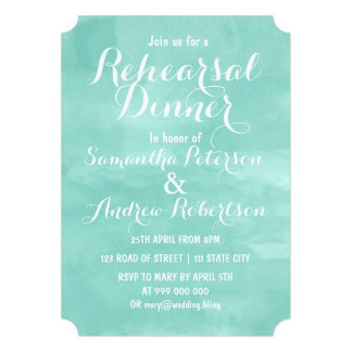 Modern aqua green watercolor wedding