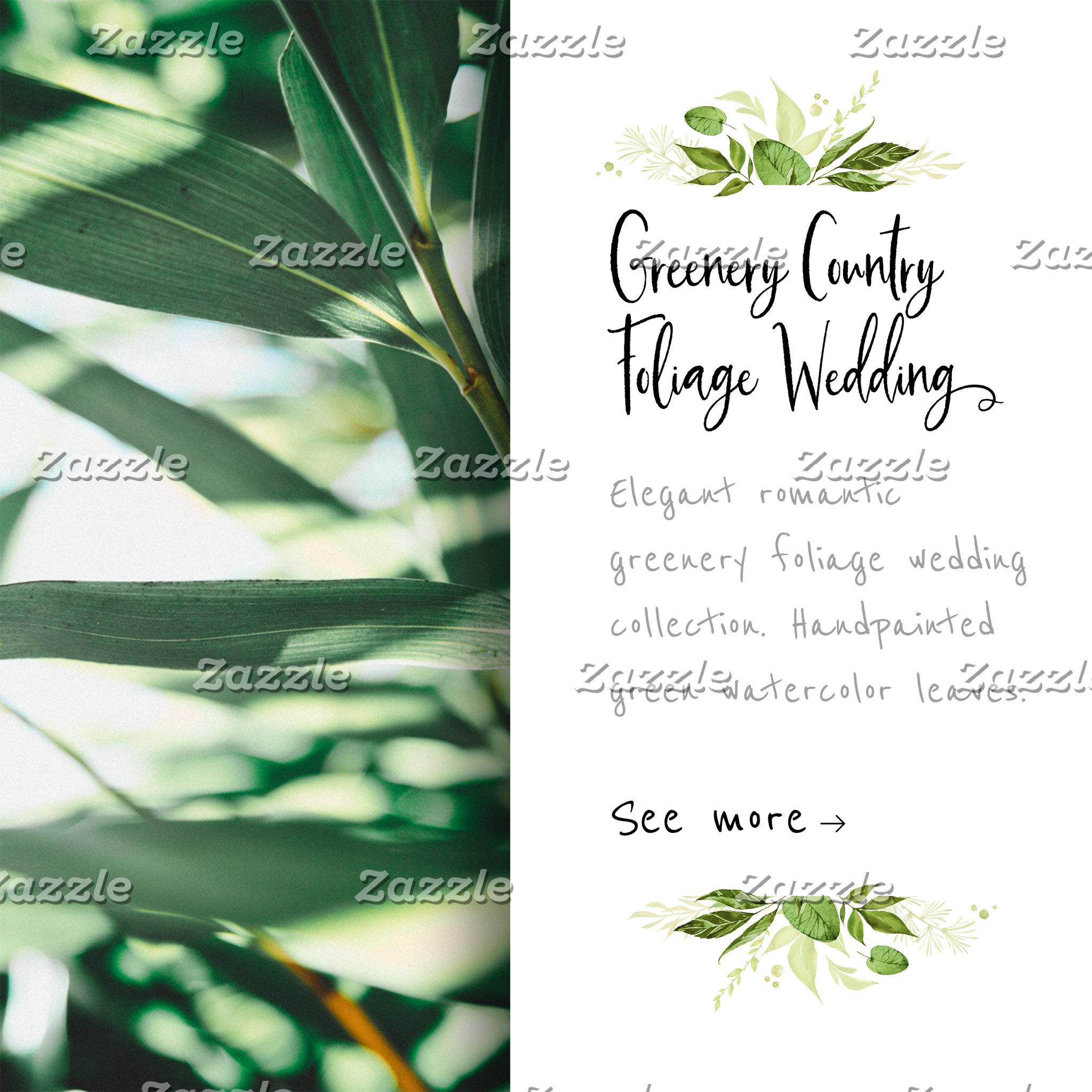 Greenery Country Foliage Wedding
