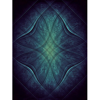 Abstract Blue Green Pattern