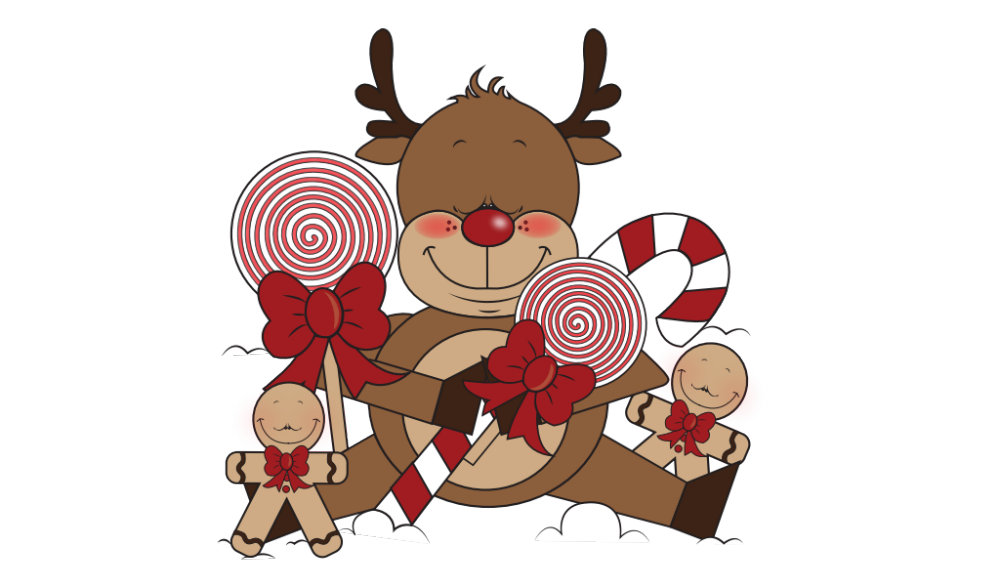 Cute Holiday Reindeer Cartoon