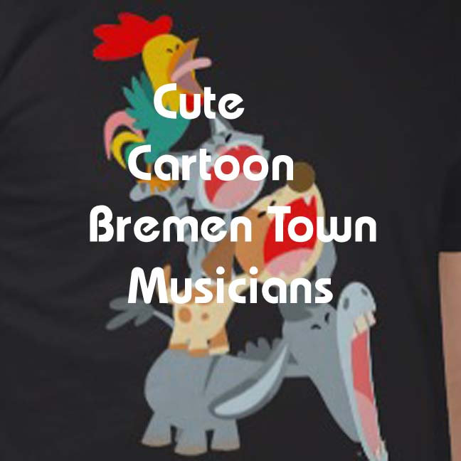 Cartoon Bremen Town Musicians