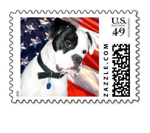 American Bulldog Postage Stamps