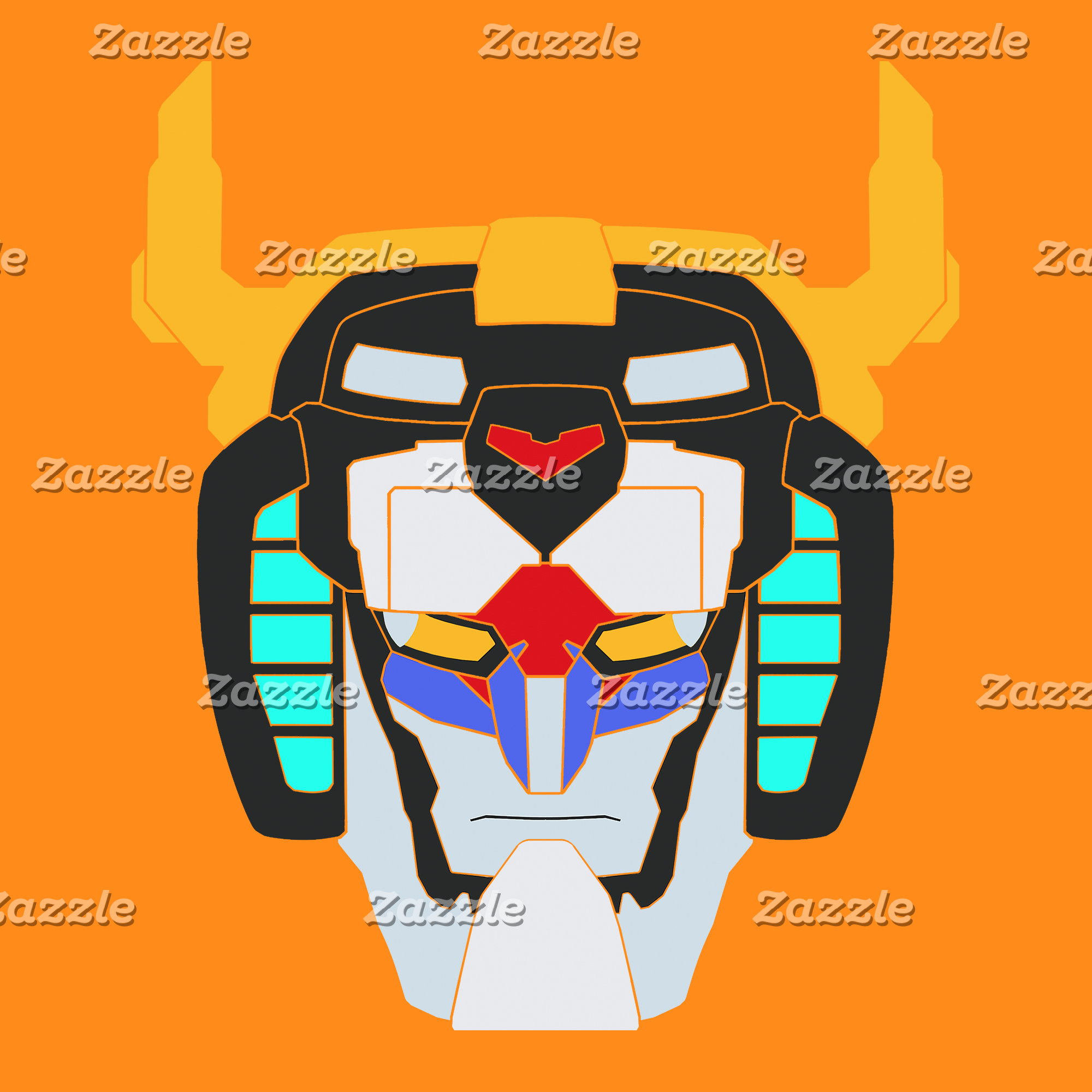 Voltron | Colored Voltron Head Graphic