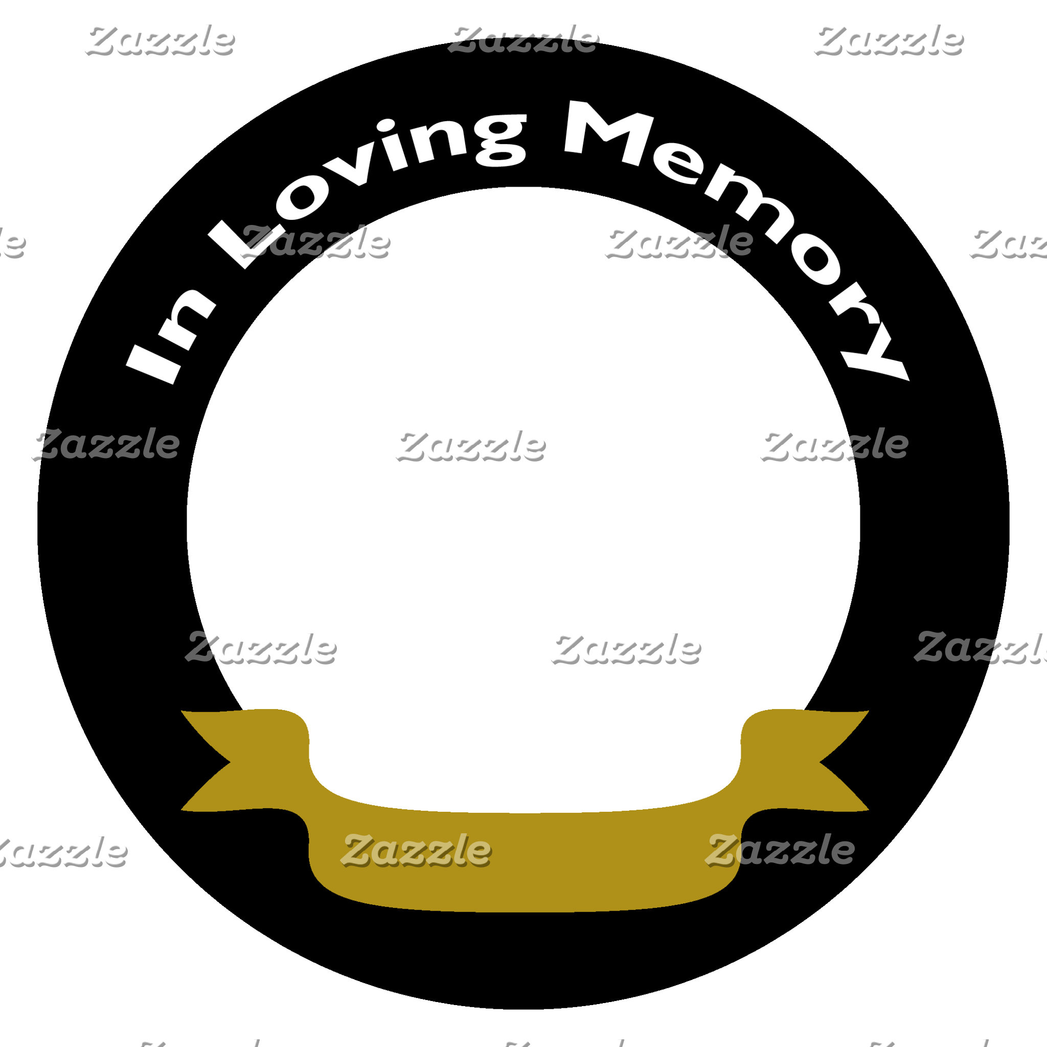 In Loving Memory Black with Gold