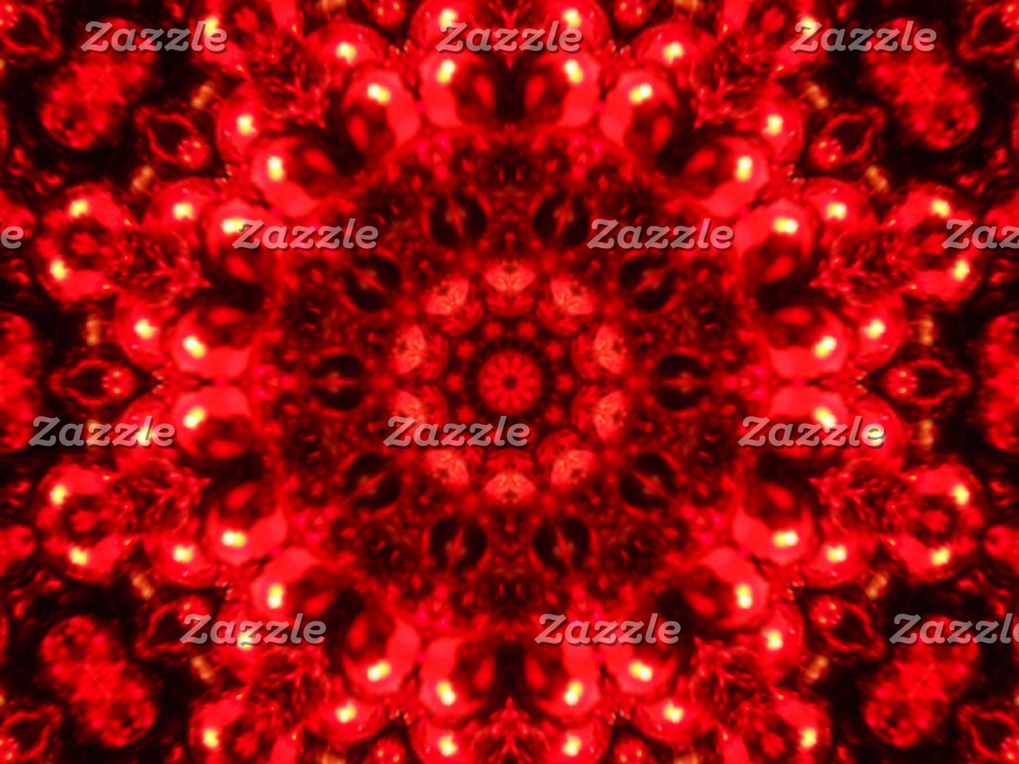 Christmas Red Kaleidoscope