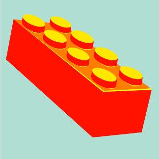Building block toy pop art