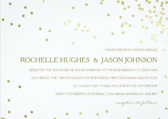 Faux Gold Foil Confetti Wedding