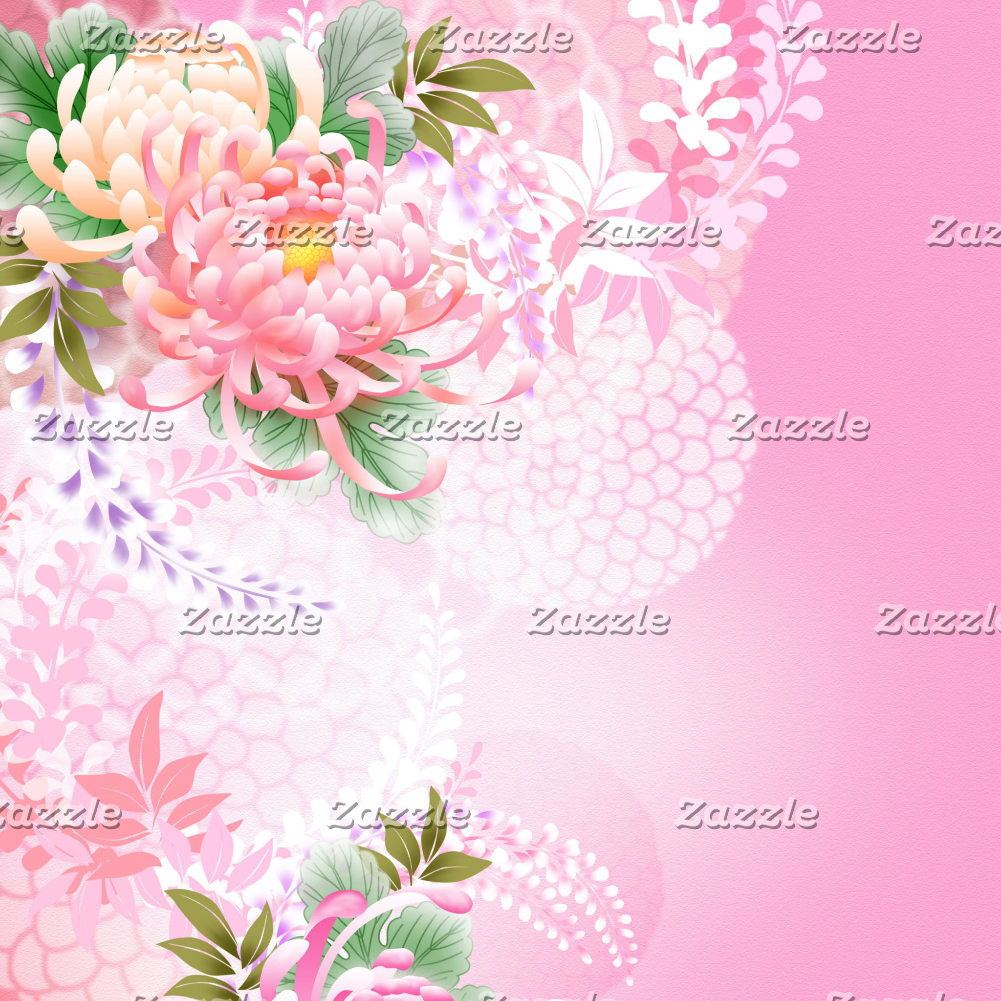 Floral, Plants, Leaves