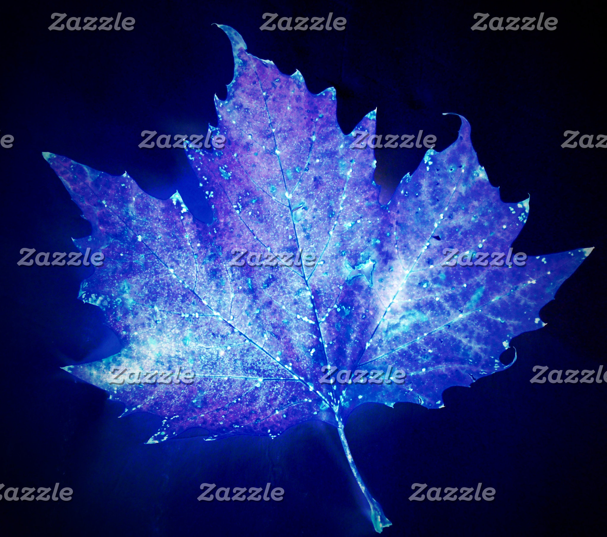 Electric Blue Glow Leaf