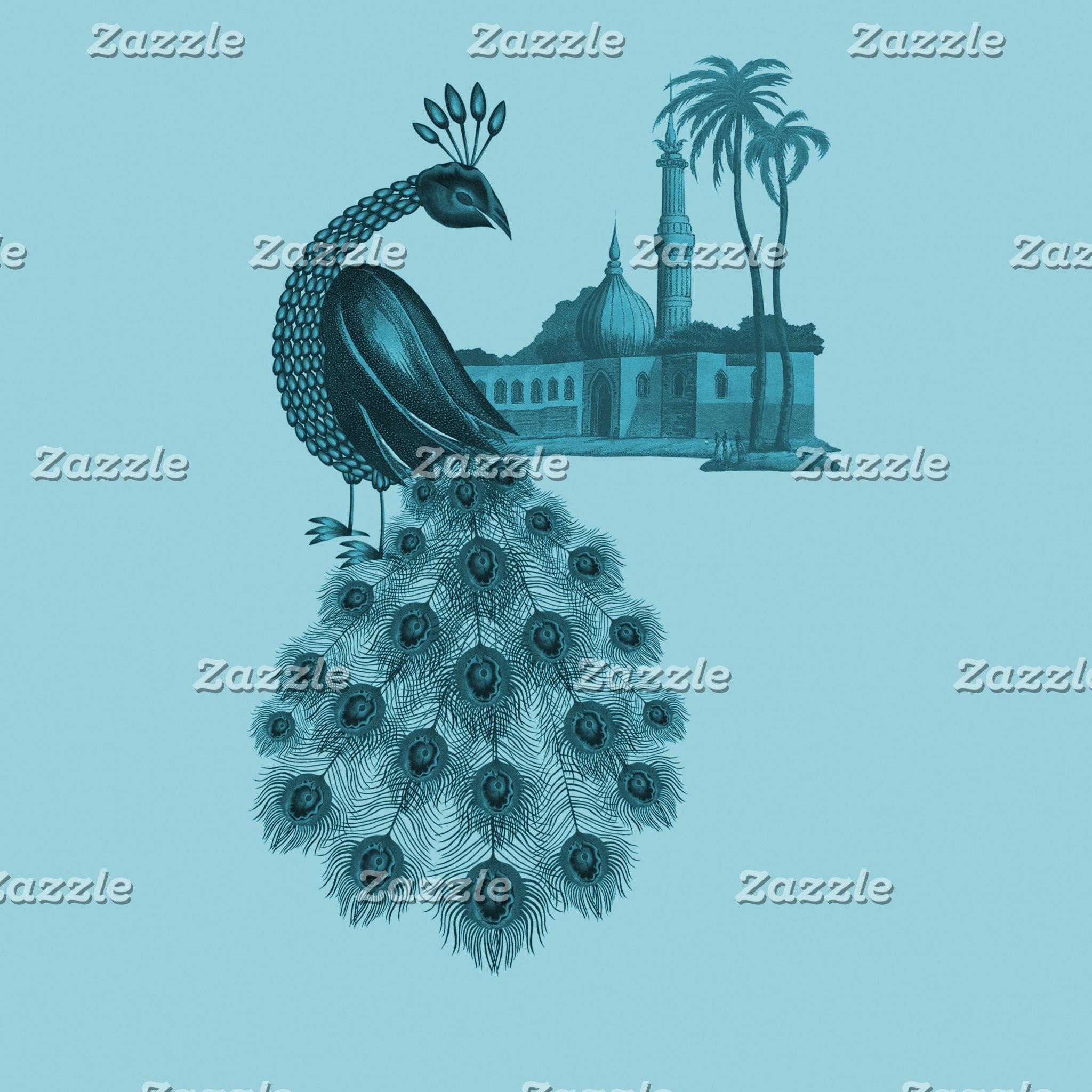 Romantic Blue Peacock