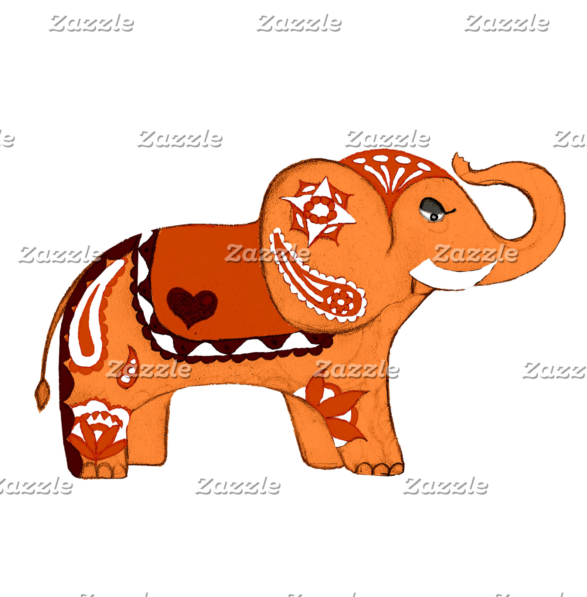 Henna Elephant Six Colors!