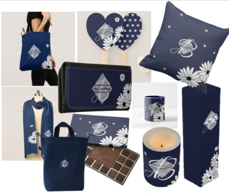 100 Bridal Party Gifts Navy Blue