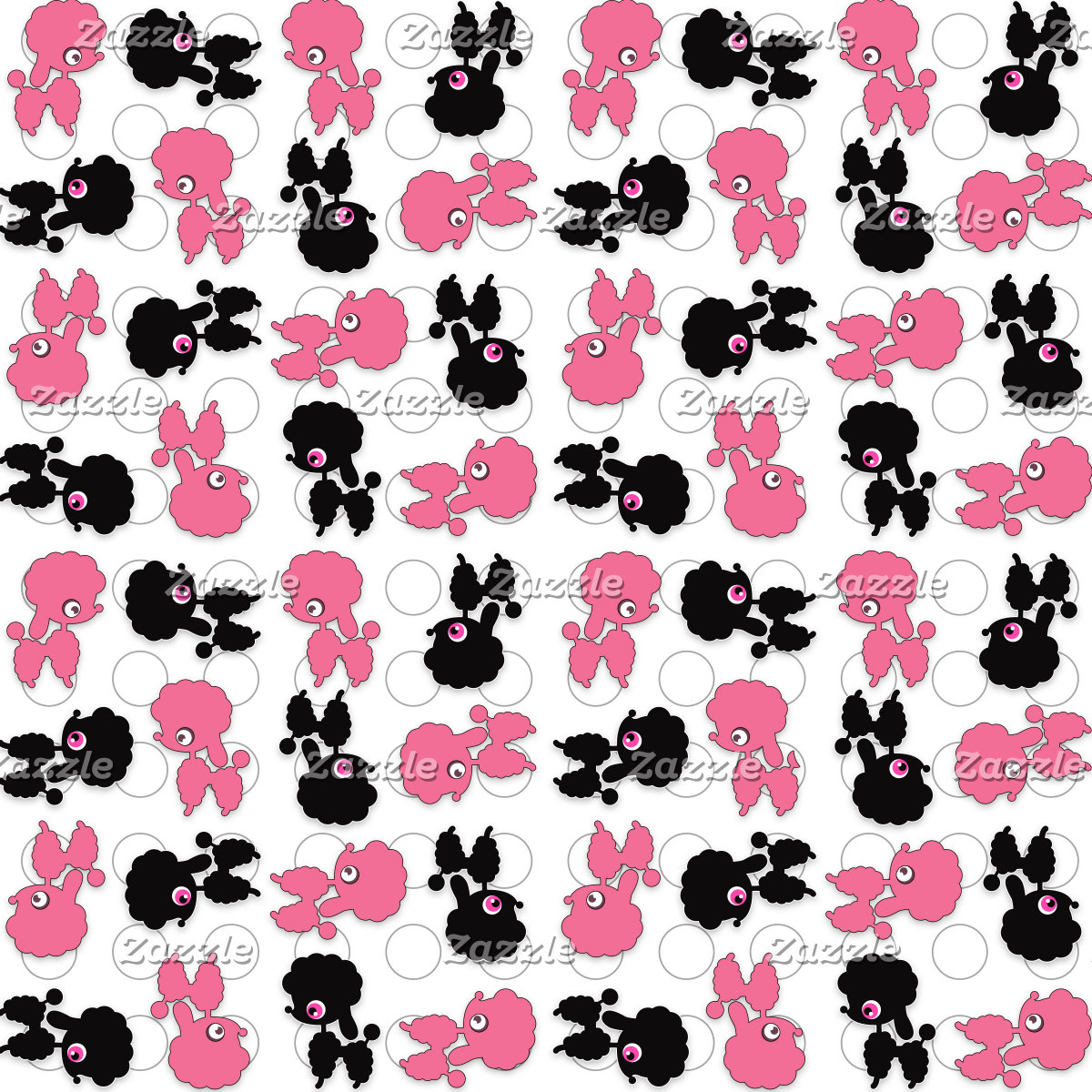 Poodles Black and Pink