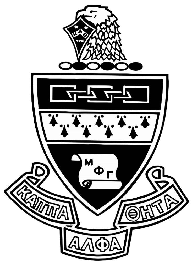 Kappa Alpha Theta Coat of Arms: Black and White