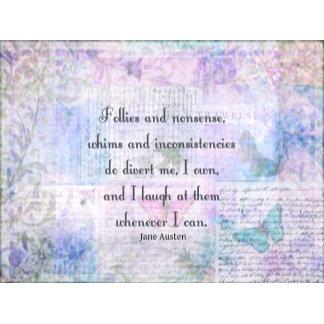 Follies and nonsense, whims and inconsistencies