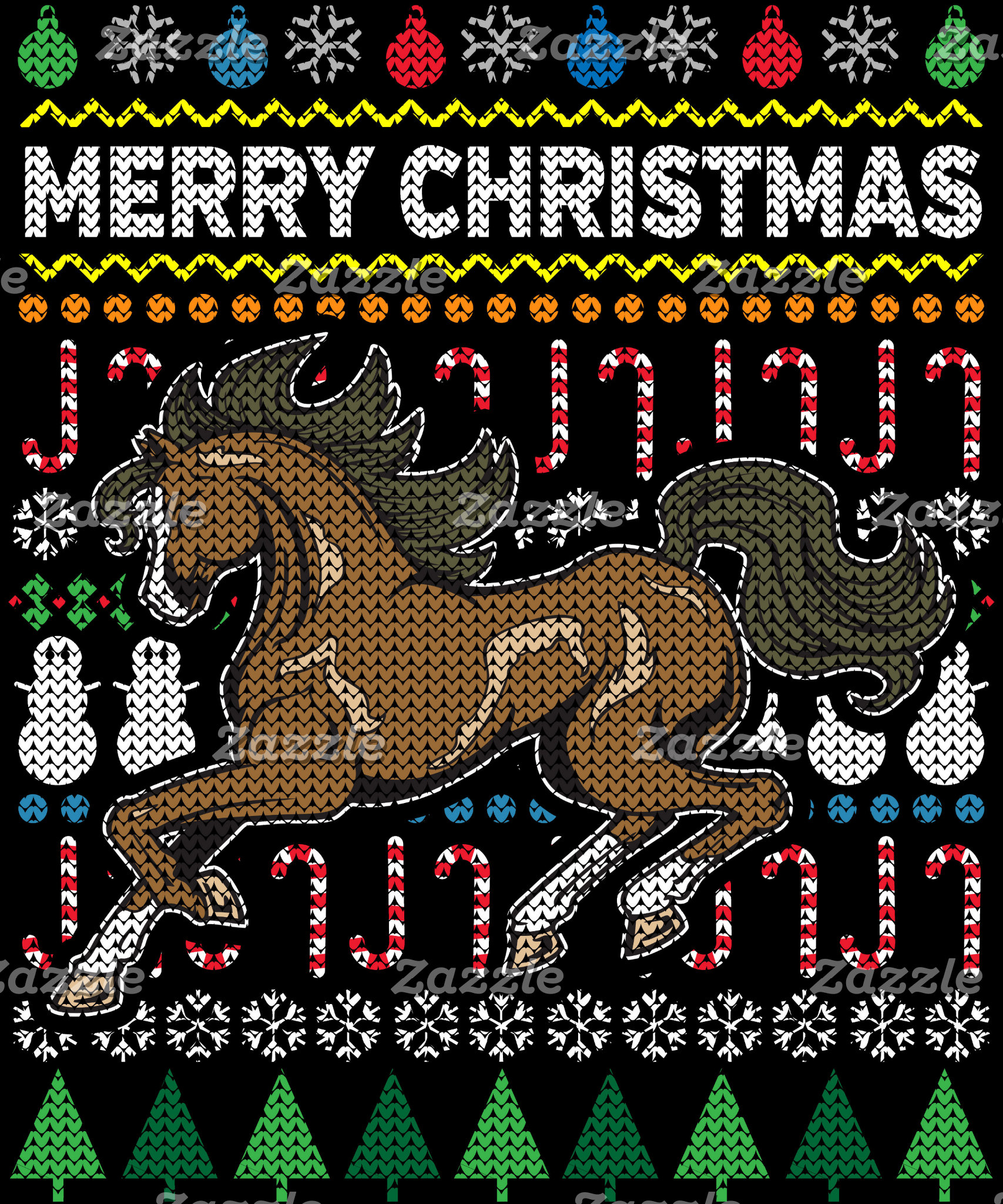 Horse Ugly Christmas Sweater