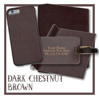 Dark Chestnut Brown Faux Leather