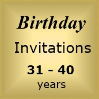 Invites Birthday : Age 31-40